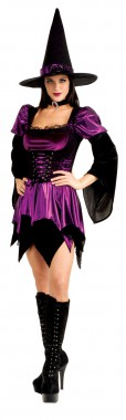 Sexy Hexe - Kleid+Hut -  Kostüm - 2 Teile - Rubies's