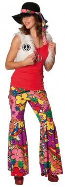 Hippie Mädchen - Weste+Hose - Kostüm - 2 Teile  - Rubie's