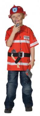 Spieleshirt Feuerwehr - Kinder Kostüm - 1 Teil - Rubie's