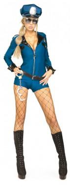 Sexy Polizistin - Overall+Gürtel+Mütze -  Kostüm - 3 Teile - Rubie's