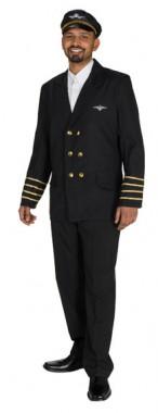 Pilotenjacke - Kostüm - 1 Teil - Rubie's