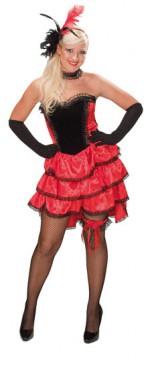 Can Can Girl - Kleid+Halsband - Kostüm - 2 Teile - Rubie's