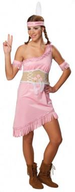 Rosa Indianerin - Kleid+Manschetten+Gürtel - Kostüm - 3 Teile - Rubie's