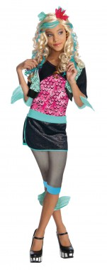 Monster High-Lagoona - Jacke+Rock+Leggings - schwarz, türkis, pink - Kinder Kostüm - 3 Teile - Rubie's
