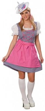 Blaues Dirndl  - Kleid+Schürze - Kostüm - 2 Teile - Rubie's