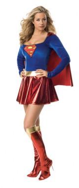 Supergirl - Deluxe-Kleid+Cape+Stulpen - Kostüm - 3 Teile - Rubie's