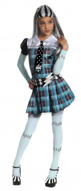 Monster High-Frankie - Kleid+Gürtel+Leggings - Blau-bunt - Kinder Kostüm - 3 Teile - Rubie's