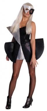 Lady Gaga - Outfit Schwarz - Kleid+Maske - Kostüm - 2 Teile - Rubie's