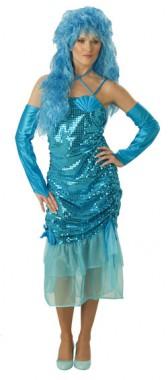 Wassernixe - Kleid+Armstulpen - Kostüm - 3 Teile - Rubie's