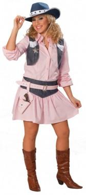 Cowgirl - Bluse+Rock - Kostüm - 2 Teile - Rubie's