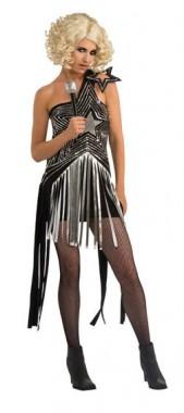 Lady Gaga - Sternenkleid Schwarz - Kostüm - 1 Teil - Rubie's
