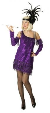 Charleston - Kleid+Armstulpen - Kostüm - 2 Teile - Rubie's