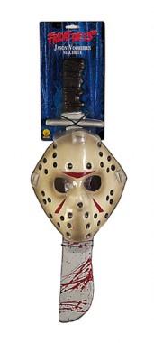 Freitag der 13. - Jason - Maske+Machete - Zubehör - 2 Teile - Rubie's