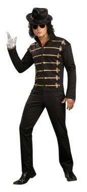Michael Jackson - Jacke Schwarz - Kostüm - 1 Teil - Rubie's