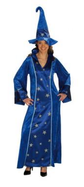 Zauberin - Kleid+Hut - Kostüm -2 Teile - Rubie's