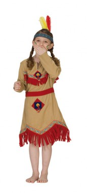 Indianerin - Kleid - Kinder Kostüm - 1 Teil - Rubie's