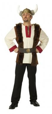Wikinger - Oberteil+Gürtel - Kostüm - 2 Teile - Rubie's