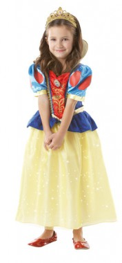 Disney Schneewittchen - Kleid Glitzernd - Kinder Kostüm - 1 Teil - Rubie's