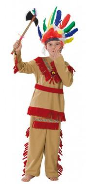 Indianer - Oberteil+Hose - Kinder Kostüm - 2 Teile - Rubie's