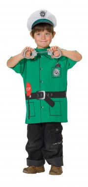 Spieleshirt Polizei - Kinder Kostüm - 1 Teil - Rubie's