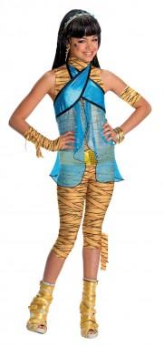 Monster High-Cleo - Oberteil+Hose+Zubehör - Gelb,blau - Kinder Kostüm - 4 Teile - Rubie's