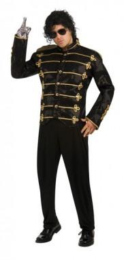 Michael Jackson - Jacke Militärlook Schwarz - Deluxe - Kostüm - 1 Teil - Rubie's
