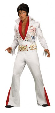 Elvis Presley - Gr. Heritage Aloha - Overall+Gürtel+Schal - Kostüm - 3 Teile - Rubie's