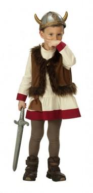 Wikinger - Oberteil+Weste - Kinder Kostüm - 1 Teil - Rubie's