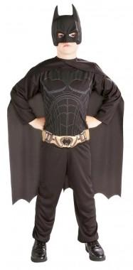 Batman Begins-Batman - Overall+Cape+Maske - schwarz - Kinder Kostüm - 3 Teile - Rubie's