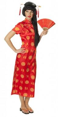 Chinesin - Kleid - Kostüm - 1 Teil - Rubie's