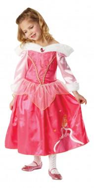 Disney-Dornröschen Winter - Kleid+Cape - Rosa-weiß - Kinder Kostüm - 2 Teile - Rubie's