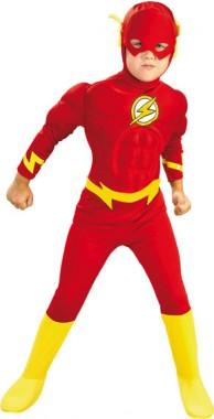 The Flash - Kids-Muskeloverall+Maske - Kinder Kostüm - 3 Teile - Rubie's