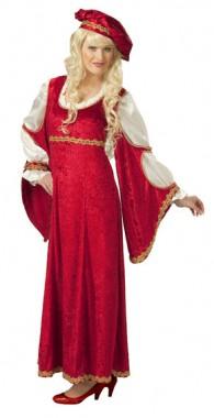 Renaissance Fürstin - Kleid - Kostüm - 1 Teil - Rubie's