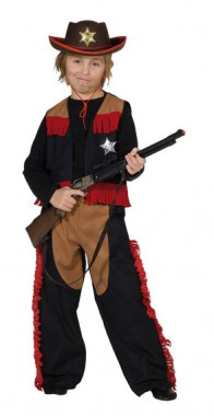 Cowboy - Weste+Hose+Zubehör - Kinder Kostüm - 2 Teile - Rubie's
