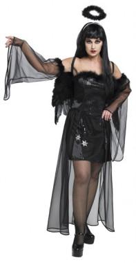 Dark Angel - Kleid+Armstulpen - Kostüm - 2 Teile - Rubie's