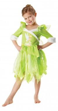 Disney-Tinker Bell Winter - Kleid+Cape - lindgrün - Kinder Kostüm - 2 Teile - Rubie's