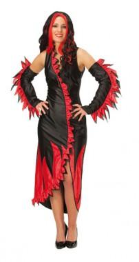 Flamme - Kleid+Armstulpen - Kostüm - 2 Teile - Rubie's