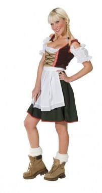 Tirolerin - Kleid mit Schürze - Kostüm - 1 Teil - Rubie's