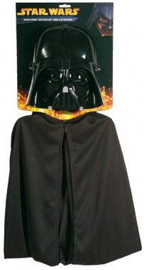 Star Wars - Darth Vader für Kinder+Teenager - ¾ Maske+Cape - Maske - 2 Teile - Rubie's
