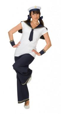 Matrosin - Armmanschetten+Kragen+Hose - Kostüm - 3 Teile - Rubie's