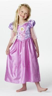 Disney - Rapunzel - Classic Kleid+Zopf - Kinder Kostüm - 2 Teile - Rubie's