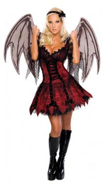 Vampirfee - Kleid+Flügel+Haarband - Kostüm - 3 Teile - Rubie's