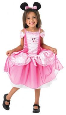 Minnie Maus Pink Ballerina - Kleid+Ohren - Kinder Kostüm - 2 Teile - Rubie's