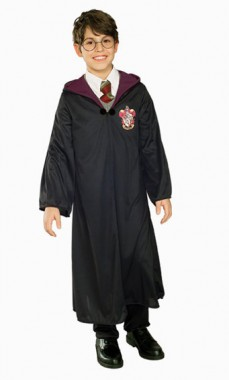 Harry Potter - Robe schwarz - Deluxe - Kinder Kostüm - 1 Teil - Rubie's