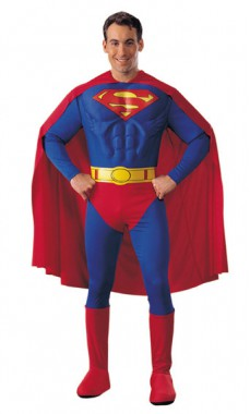 Superman - Deluxe Muskeloverall+Stulpen - Kostüm - 4 Teile - Rubie's
