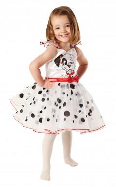 101 Dalmatiner-Ballerina - Kleid - Weiß-schwarz-rot - Kinder Kostüm - 1 Teil - Rubie's