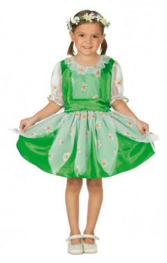 Gänseblümchen - Kleid+Kopfschmuck - Kinder Kostüm - 2 Teile - Rubie's