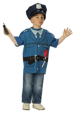 Polizeishirt -  Kinder Kostüm - 1 Teil - Rubie's