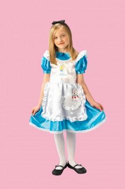 Disney - Alice im Wunderland - Kleid - Kinder Kostüm - 2 Teile - Rubie's