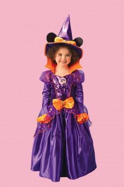 Minnie Maus - Hexe - Kleid+Ohren+Hut - Kinder Kostüm - 3 Teile - Rubie's